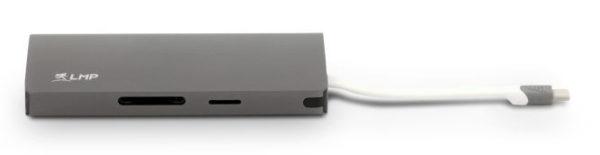 LMP USB-C 4K 9 Port Travel Dock, Space Gray