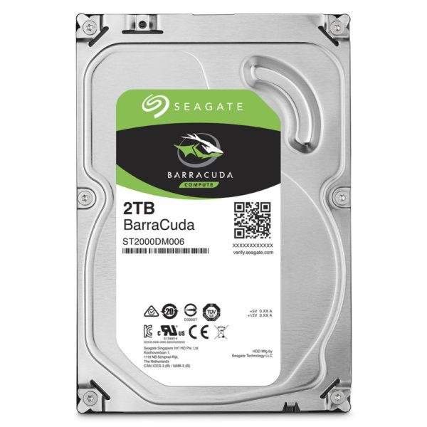 "SEAGATE BarraCuda 2 Tb 7200 RPM SATA III 6Gb_s 3.5"" OEM Internal Hard Drive"